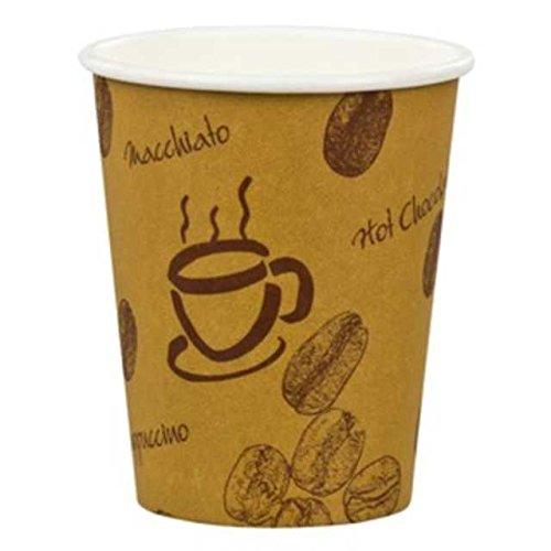 100 Stk. Kaffeebecher Premium, Coffee to go, Pappe beschichtet, 12oz., 300 ml / Hochwertiger hitzebeständiger