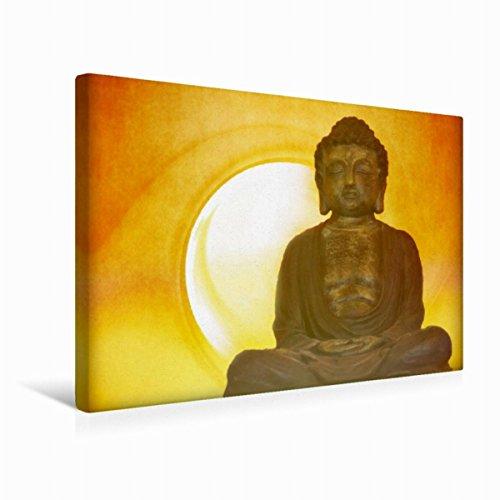 Calvendo Premium Textil-Leinwand 45 cm x 30 cm Quer, Ein Motiv aus Dem Kalender Buddhismus | Wandbild, Bild auf Keilrahmen, Fertigbild auf Echter Leinwand, Leinwanddruck Glaube Glaube