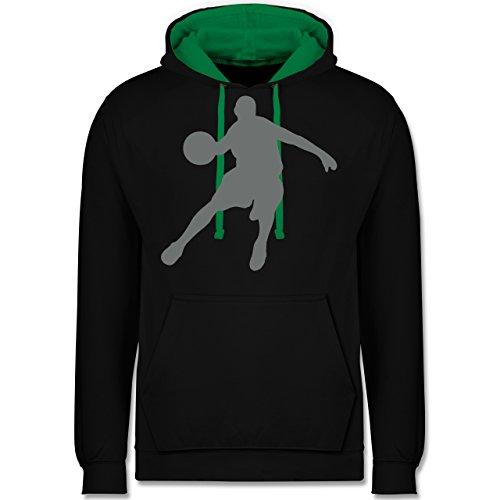 Basketball - Basketballspieler - Kontrast Hoodie Schwarz/Grün