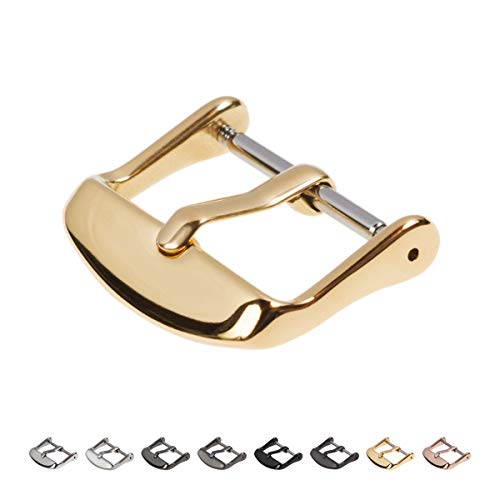 Archer Watch Straps | The PVD Stainless Steel Replacement Buckle | Polished Gold, 20mm
