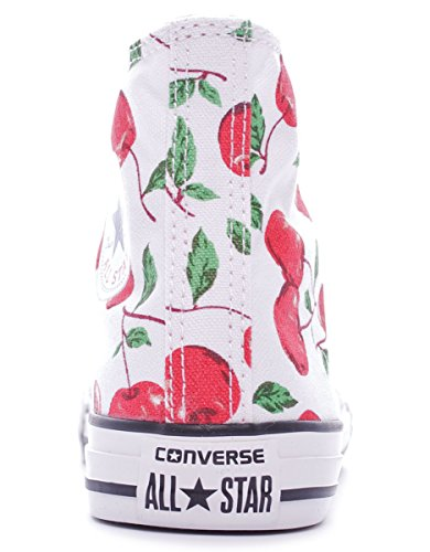 Converse Chuck Taylor Hi Canvas Graphic unisex kinder, canvas, sneaker high White/Cherry