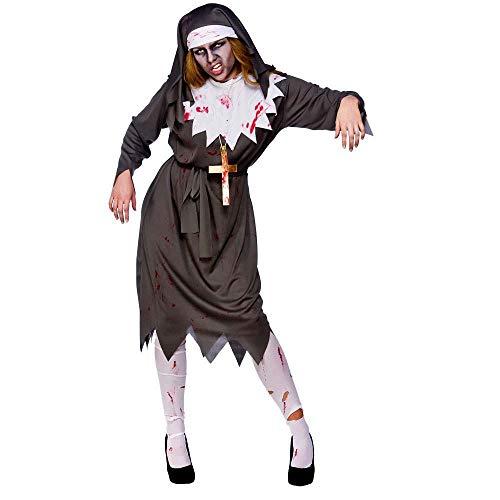Satanische Nonne Zombie Kostüm-L/XL