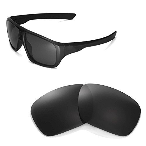Walleva Ersatzgläser für Oakley Dispatch Sonnenbrille - Mehrfache Optionen (Schwarz - polarisiert)