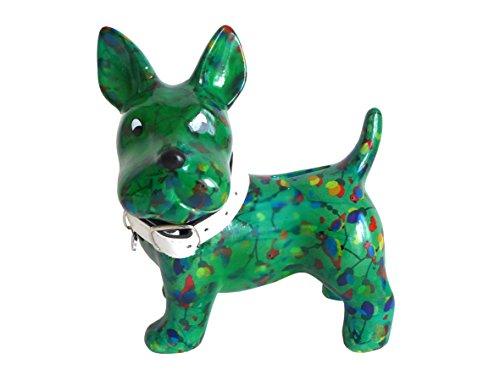 susse-spardose-hund-boomer-grun-mit-papageien-pomme-pidou-sparbuchse-geldgeschenk-geschenk