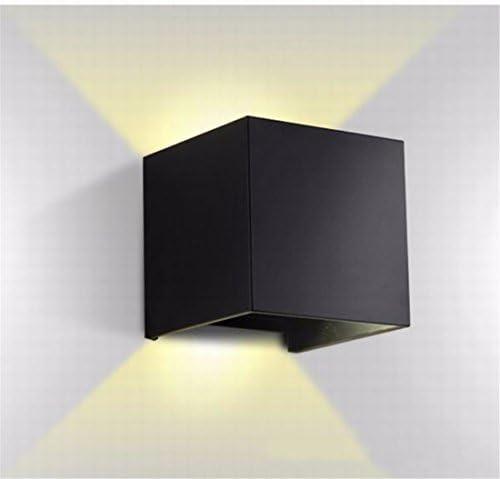 YU-K Moderne lampade lampade lampade da parete 6WLED lampade da parete per esterni di patio giardino recinto impermeabile luce, luce calda nero 2839ed