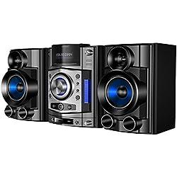 Sunstech NSX100BTDVDBK Micro-chaîne Hi-FI (Bluetooth, DVD, CD, SD, USB, FM, 100W RMS) Noir