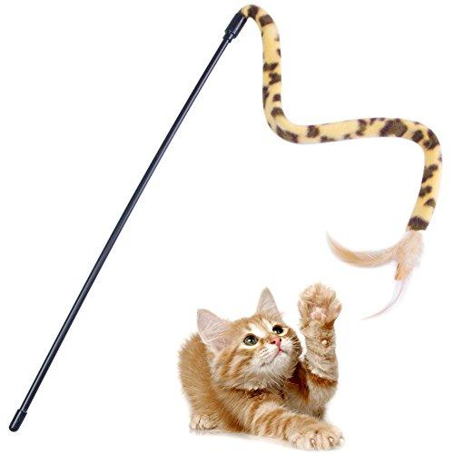 BABA Interaktives Spielzeug mit Feder für Katzen Kätzchen (Halloween-interaktives Spiel)