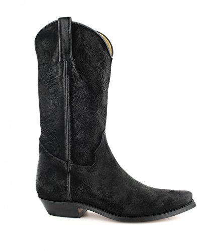 Tony Mora  3389, Bottes et bottines cowboy mixte adulte Serraje Negro (NM)