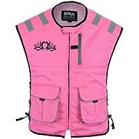 Biker Wears Ladies Pink Waistcoat Hi viz Executive Vest Security, Cycling Workwear High Visibility Jacket For Girls