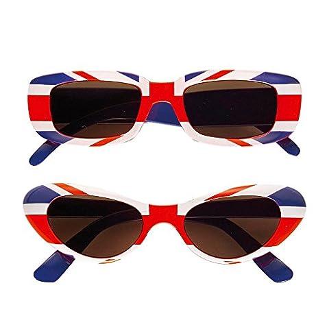 Widmann 6647E - Brille UK, rot / blau / weiß