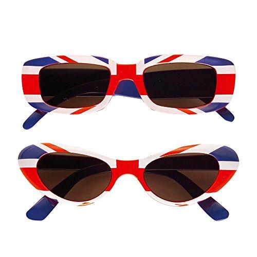 Widmann 6647E - Brille UK, rot / blau / (Ist Ideen England Kostüm Dies)