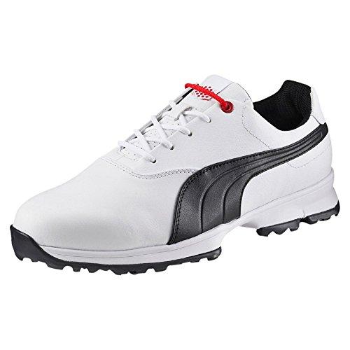 Puma Golf Ace - white-black-high risk red, Größe:10