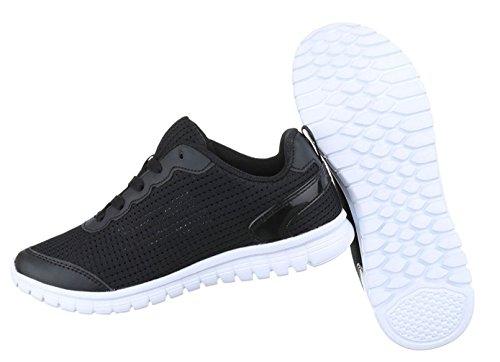 Damen Freizeitschuhe Schuhe Runner Sportschuhe Sneakers Schwarz Dunkelblau Orange Pink Rosa Weiß 36 37 38 39 40 41 Schwarz