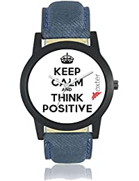 Freny Exim Casual Analog Newest Arrivals Latest Slogan White Dial Blue Leather Belt Watches For Boys - Men Watches