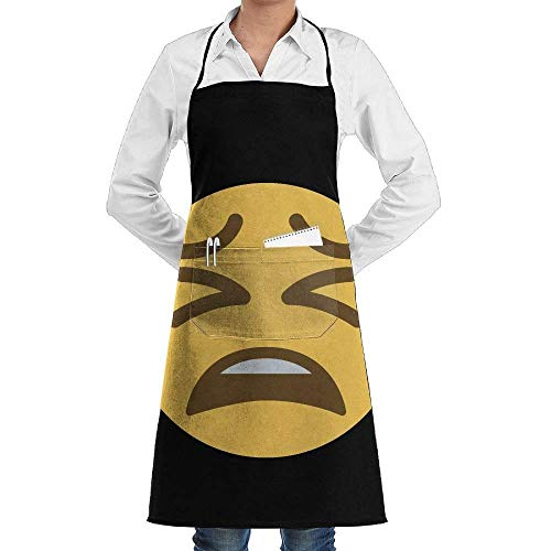 SDGSS with Pocket Apron,I Have No Idea But It Hurts My Brain- Men & Women Bib Chef Kitchen Apron with Pockets