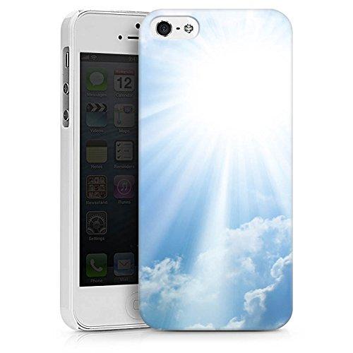 Apple iPhone X Silikon Hülle Case Schutzhülle Wolken Sonnenstrahlen Himmel Hard Case weiß