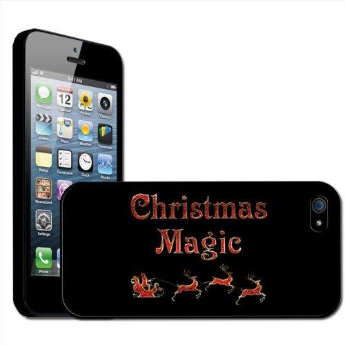 Fancy A Snuggle Schutzhülle für Apple iPhone 5 (Rückenabdeckung zum Aufstecken, Hartschale, Motiv 'Christmas Magic' mit Weihnachtsmann und Rentieren