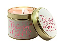 Lily-Flame Powder Puff Tin, Pink