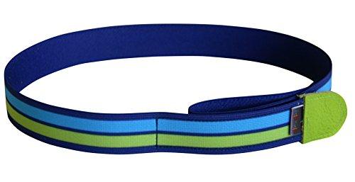 Ed&Kids Kindergürtel ohne Schnalle | Streifen grün-blau | elastisch | größenverstellbar | Made in Germany