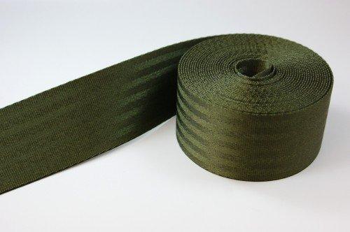 5m Sicherheitsgurtband aus Polyamid - Farbe: khaki - 48mm breit - bis 2t belastbar