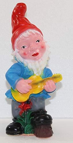Unbekannt Gartenzwerg Zwerg mit Gitarre und Bewegungsmelder Happy Birthday Höhe 31 cm
