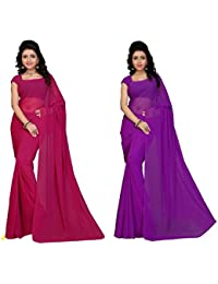 Sarees (Women's Clothing Saree For Women Latest Design Wear Sarees New Collection In Gold Coloured Georgette Material...