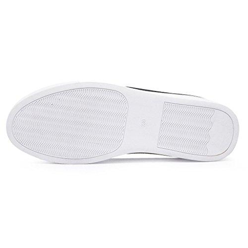 Shenn Donne Comodo Casuale Basso Top Pelle Formatori Scarpe 7700 Nero