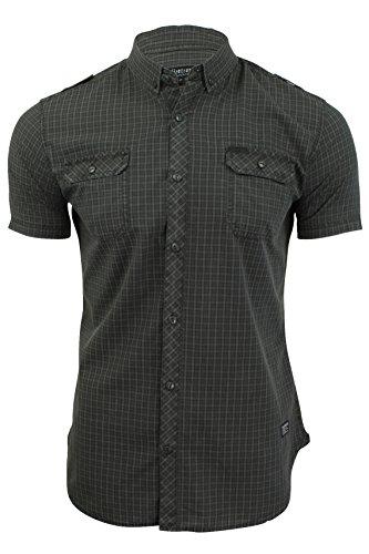 Firetrap Sebbon - Herren Hawaiihemd mit kurzen Ärmeln Mecosta - Pewter