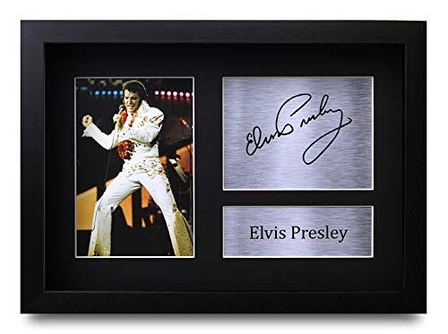 HWC Trading Elvis Presley (GERAHMTES) Geschenke Unterzeichneten A4 Gedrucktes Autogramm Musik Druck-Foto-Bilderanzeige