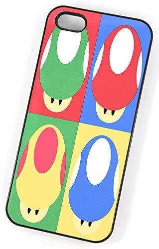 Super Mario champignon Andy Warhol style graphique (Housse/Etui rigide en plastique pour iPhone 4/4S Noir