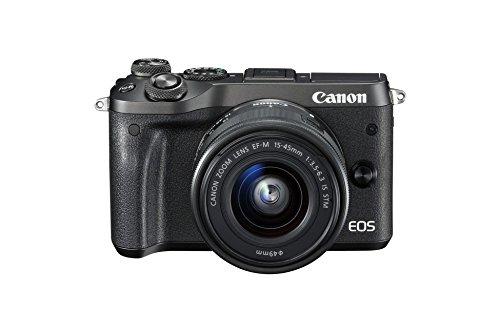 Canon Fotocamera Digitale Mirrorless EOS M6, Obiettivo EF-M 15-45mm, f/3.5-6.3 IS STM, Nero