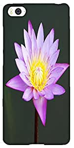 Snoogg Beautiful Purple Waterlily In A Pond Solid Snap On - Back Cover All Ar...