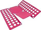 normani 1-10 Stück Wäschefalter für T-Shirt Hemden/Faltbrett/Falthilfe/Wäschefaltbrett - Haushaltshilfe - sehr stabil Farbe Pink Größe 1 Stück