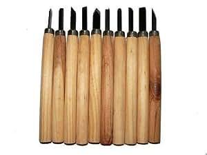 Lot x10 ciseaux bois gouges sculpture menuiserie couteau bricolage - Gouge sculpture bois ...