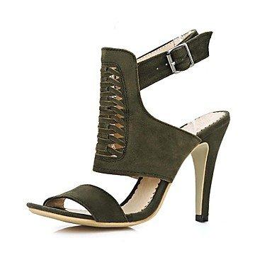 LvYuan Da donna-Sandali-Formale Casual Serata e festa-Comoda Club Shoes-A stiletto-Felpato-Nero Giallo Rosso Esercito verde Yellow