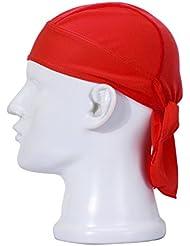 FREEMASTER Sports Bandana Cap Schwarz Rot Weiß Herren Damen Biker Bandanas Kopftuch Hat