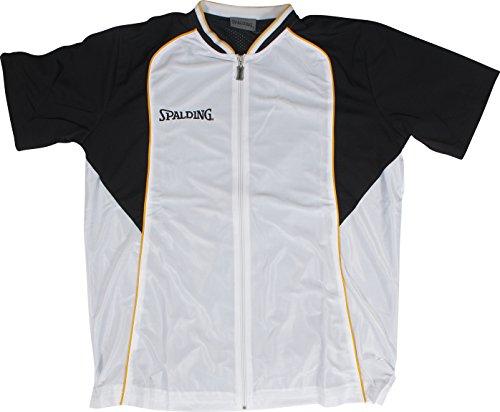 Spalding, Maglietta a maniche corte Uomo Teamsport Fastbreak, Bianco (Weiß), XXXL