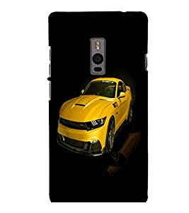 printtech Superfast Car Back Case Cover for One Plus Two ::One Plus2