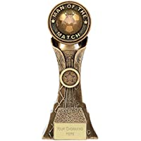 Womack Graphics 8 inch (20cm) Genesis Man of the Match Football Resin Trophy Award with Free Engraving upto 50 letters PK113