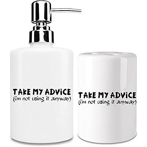 Take my advice (i'm not using it anyway) Dispensador de jabón y Porta Cepillo de dientes