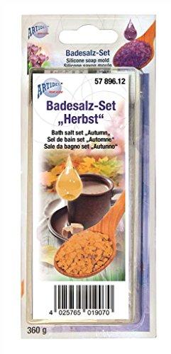 CREARTEC Badesalz Set zum selber machen - Typ Herbst mit Schokoladen Duft und Tabak Farbe - Wellness zum selber machen und verschenken - Made in Germany