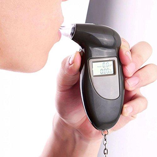 Sharplace Alcoholímetros Detector de Analizador Probador de Alcohol Alcoholemia Estilo Llavero portátil Digital LCD
