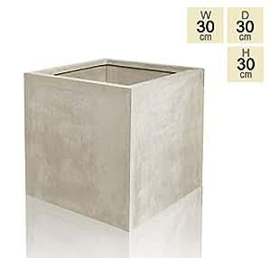 Vaso Cubico effetto Pietra- Medio 30cm