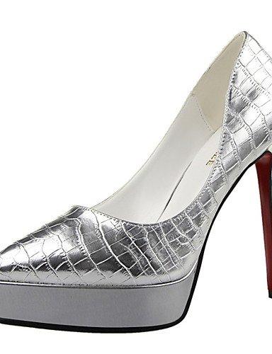 WSS 2016 Chaussures Femme-Mariage / Habillé / Soirée & Evénement-Noir / Rose / Rouge / Argent-Talon Aiguille-Talons-Talons-Similicuir red-us5.5 / eu36 / uk3.5 / cn35