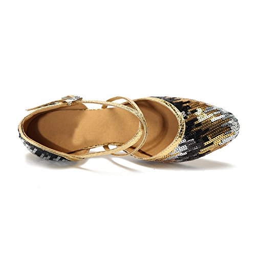 Minitoo , Salle de bal femme Gold/Black-6cm Heel