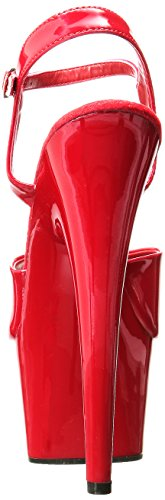 Pleaser Adore-709, Sandales  Bout ouvert femme Rot (Rot (Red/Red))