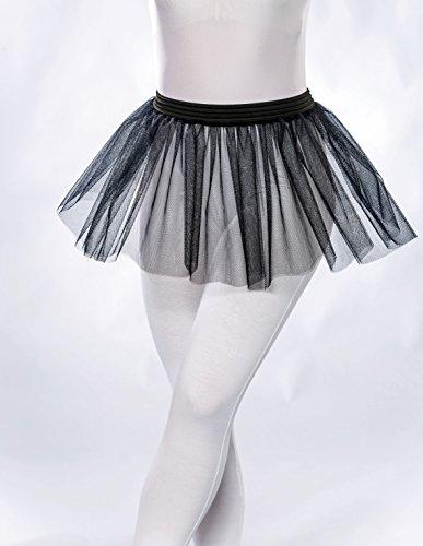 Ballerina Burlesque Kostüm - Tüllröckchen, schwarz, Universalgröße