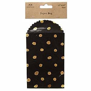 Heaven Sends - Mini buste nere con pois dorati (confezione da 6) (20 x 10cm) (Nero/Dorato)