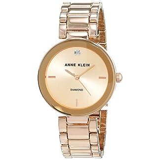 Anne Klein AK/N1362RGRG – Reloj para Mujeres, Correa de Acero Inoxidable Color Oro Rosa