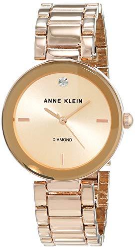Anne Klein - AK/N1362RGRG - Montre Femme - Quartz Analogique - Bracelet Acier Inoxydable Doré